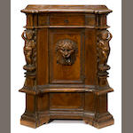 An Italian Renaissance inlaid walnut cupboard <br>incorporating antique and later elements