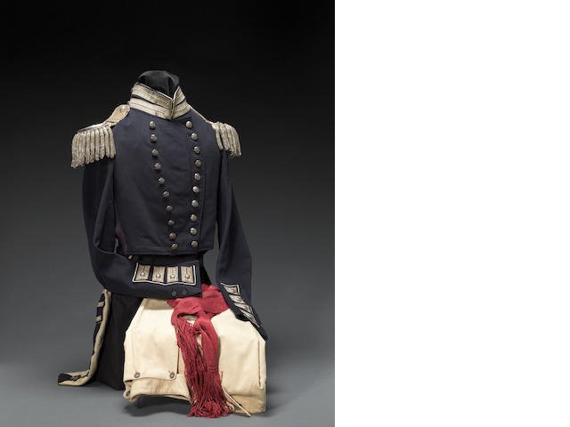 A Pattern 1832 infantry officer's dress uniform ensemble of Colonel Josiah P. LeFevre