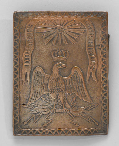 A French Napoleonic customs official's shoulder belt plate