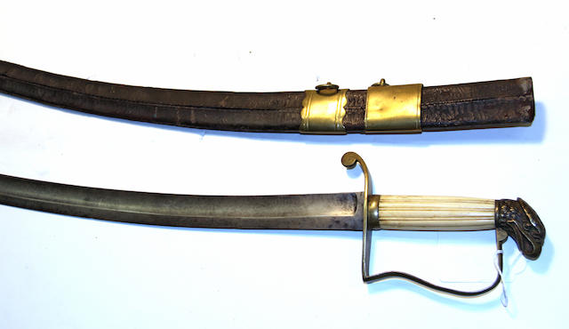 An American eagle pommel officer's saber