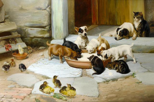 William Henry Hamilton Trood (British, 1860-1899) Déjeuner