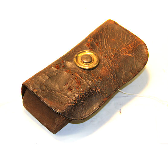 An American militia cartridge box