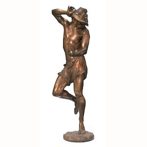 A patinated bronze figure . after a model by A. Carrier. circa 1900