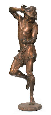 A patinated bronze figure <BR />after a model by A. Carrier<BR />circa 1900