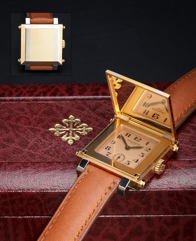 Patek Philippe. A fine 18K white and rose gold cabriolet wristwatch Ref:5099RG, Case no. 4110715, Movement no. 1872642