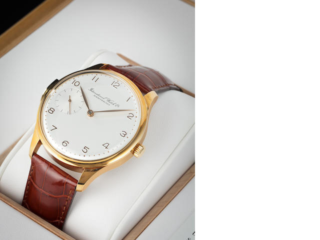 IWC. A fine 18K rose gold limited edition minute repeating wristwatchPortuguese, Ref:5240, Case no. 2852767, Movement no. 2848025, No. 127 of 250