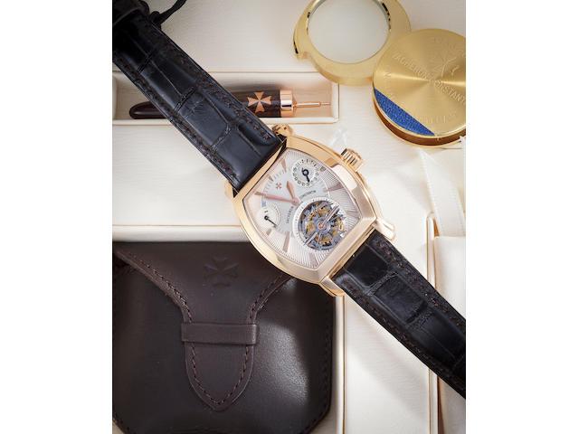 Vacheron & Constantin. A fine 18K rose gold tourbillon wristwatch with date and power reserveMalte Tourbillon Tonneau, Ref:30066/2, Case no. 775013, Movement no. 953157