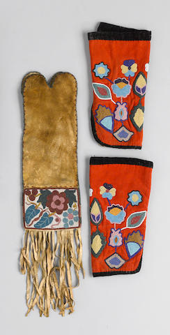 Two Cree beaded items