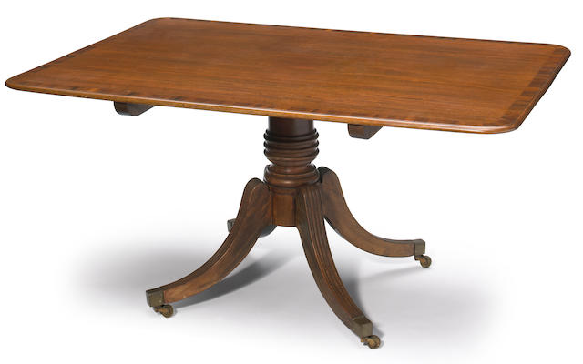 A Regency rosewood crossbanded mahogany tilt top breakfast table <br>first quarter 19th century