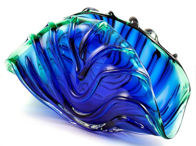 William Morris (American, born 1957) Aquamarine Form, 1988