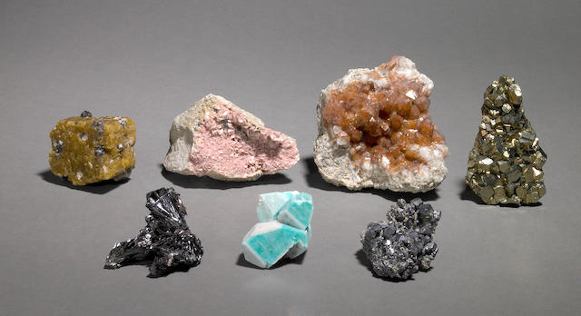 Group of Seven Colorado Mineral Specimens