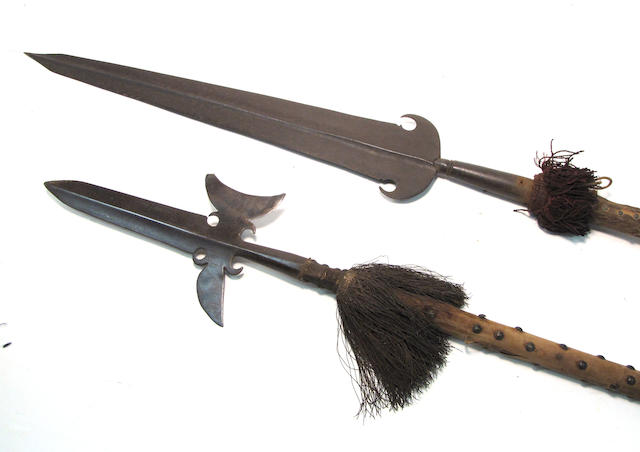 A lot of two polearms in 17th century style