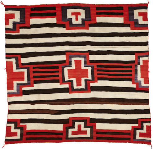 A Navajo transitional chief's style weaving