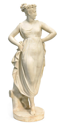 An Italian carved marble figure of Venus  19th century