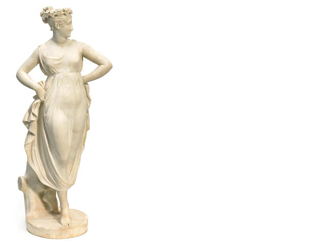 An Italian carved marble figure of Venus <BR />late 19th century