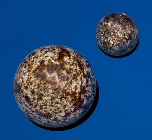 Two Stone Meteorite Spheres — Internal Structure of NWA 869 and a Smaller Unknown Meteorite Revealed