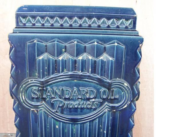 A 'Standard Oil Products' outdoor flower ern, circa 1930's,