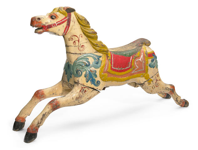 A carved and painted carousel horse <BR />Fredrick Savage, England