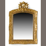 A Louis XV giltwood mirror<BR />second quarter 18th century