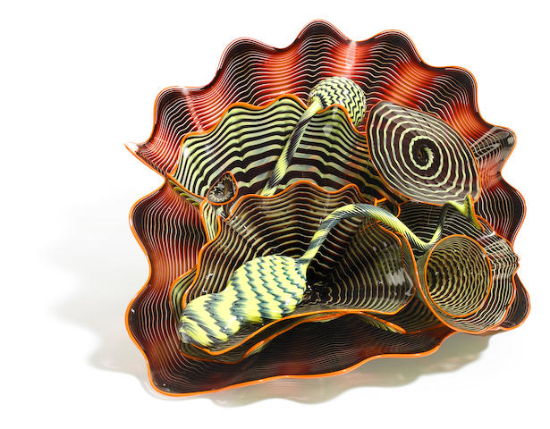 Dale Chihuly (American, born 1941) Eight-Piece Persian