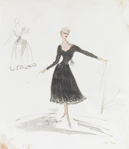 Original costume design by Edith Head for Kim Novak in Vertigo, 1958