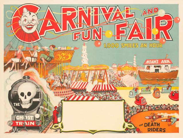 Artist Unknown; (20th century) Carnival and Fun Faire, 1000 Smiles an Hour;