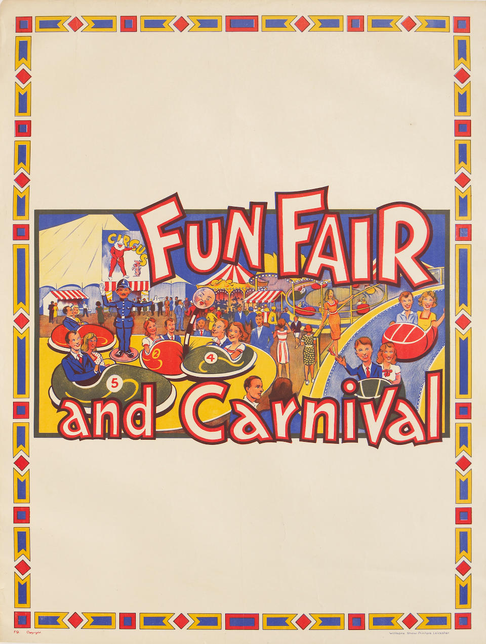 Artist Unknown; (20th century) A group of two Carnival and Fun Faire posters;