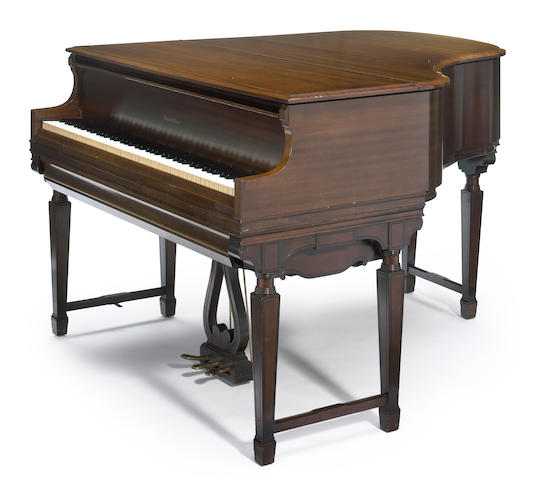 A Haines Bros. mahogany player piano