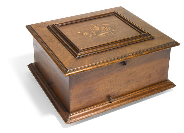 A Polyphon mahogany marquetry disc music box