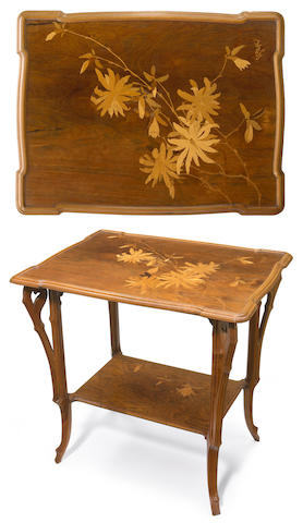 A Gallé marquetry side table circa 1900