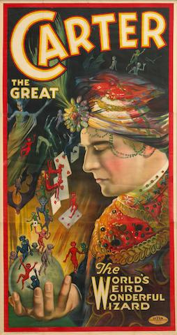 Artist Unknown; (20th century) Carter the Great, The World's Wierd Wonderful Wizard;