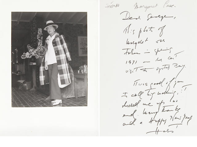 "HORST, HORST P.  1906-1999. 3 Autograph Letters Signed and Typed Letter Signed (""Horst""), 6 pp, 4to and 8vo, New York and Oyster Bay, Long Island,"