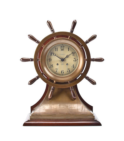A large Chelsea Mariner ship's strike clock