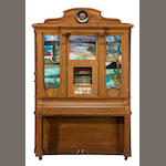 A Wurlitzer style CX Orchestrion, in the Art Glass panel cabinet <BR />circa 1915