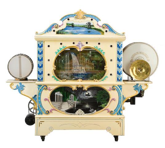 A rare Wurlitzer style 145 military band organ, with painted showcase façade  circa 1926