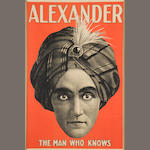Alexander the Man Who Knows one sheet poster