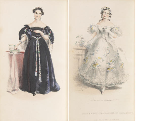 Walker, Alexander, Mrs. Female Beauty, as Preserved and Improved by Regimen, Cleanliness and Dress. L: 1837. 8vo. Rebound in tan calf, aeg, by Sangorski and Sutcliffe, slipcase. With 11 hand-colored plates. With 11 hand-colred plates, 10 of them with overlay.