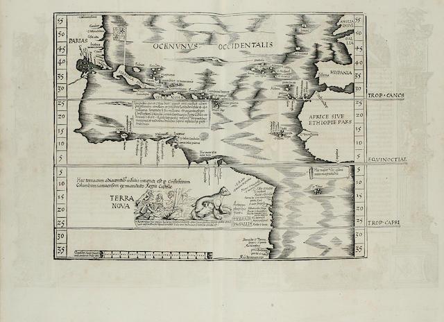PTOLEMAEUS, CLAUDIUS. Geographicae enarrationis libri octo. Lyons: Melchior & Gaspar Trechsel, 1535.<BR />