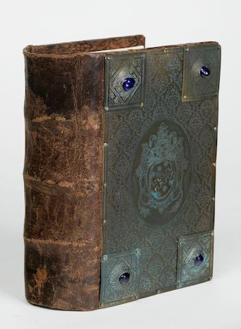 [BONAVENTURA, SAINT. 1221-1274.] BALAINIUS, JOANNES. Index generalis in omnes D. Bonaventurae super quatuor libros sententiarum. [-In primum librum sententiarum.] Venice: [al segno della Concordia], 1580.