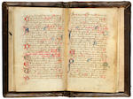 ILLUMINATED MANUSCRIPT. Illuminated manuscript,