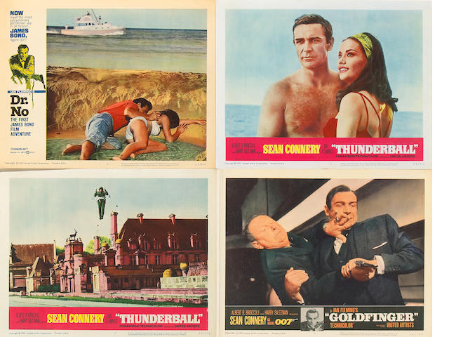 Sean Connery as James Bond Lobby Cards, 1962-1969