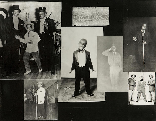 Sammy Davis Jr early photos, framed.