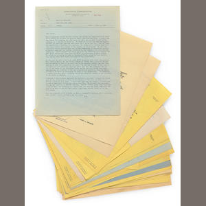 George Cukor's file of David O. Selznick memos regarding Gone With the Wind