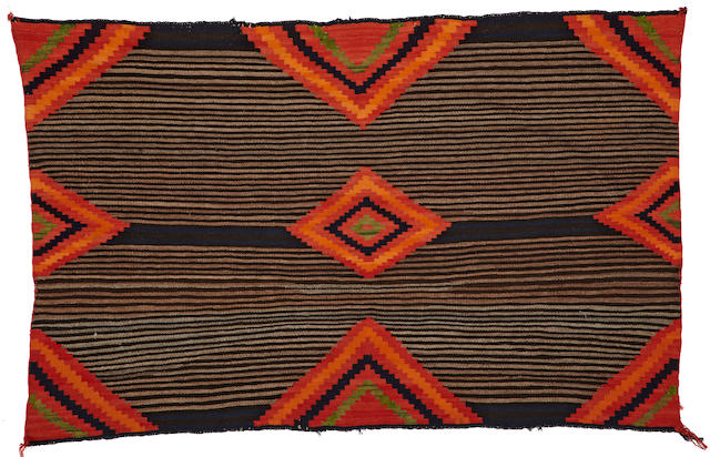 A Navajo early transitional chief's blanket