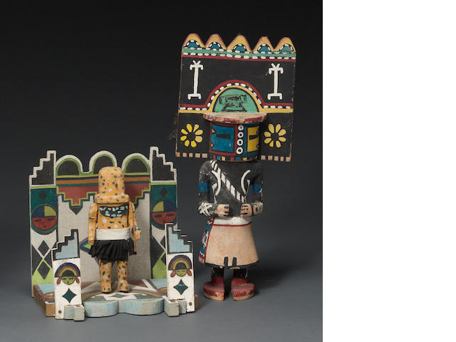 Two Pueblo kachina-related items