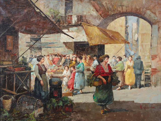 V. Ciappa A market scene 24 x 31in