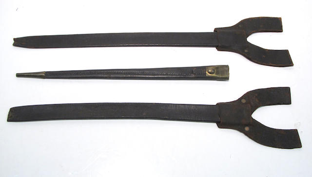 A lot of three early bayonet scabbards