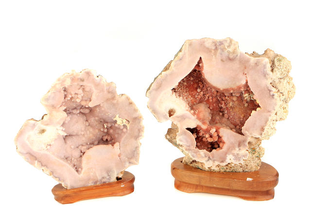 Rare Rose Quartz Geode Split