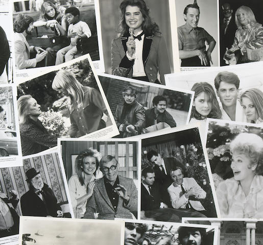 A collection of black and white film and television stills, 1970-1980s