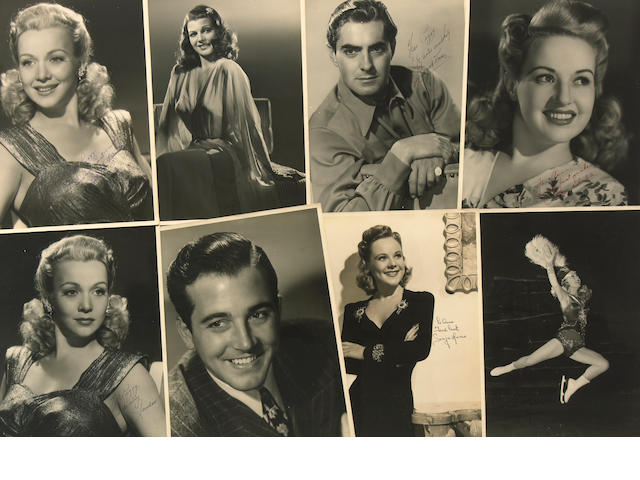 A Collection of Signed Celebrity Photos, 1950s